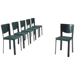 Six Dining Chairs by Grazzi and Bianchi for Enrico Pellizzoni
