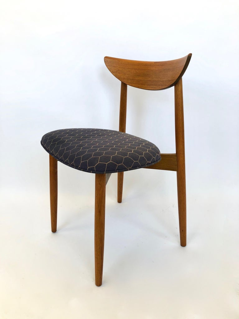 Six Dining Chairs by Harry Ostergaard for Randers Mobelfabrik, Denmark, 1960s For Sale 7