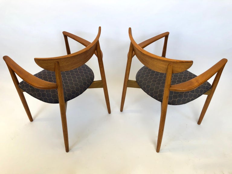 Mid-20th Century Six Dining Chairs by Harry Ostergaard for Randers Mobelfabrik, Denmark, 1960s For Sale