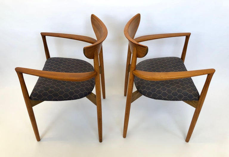 Six Dining Chairs by Harry Ostergaard for Randers Mobelfabrik, Denmark, 1960s For Sale 1