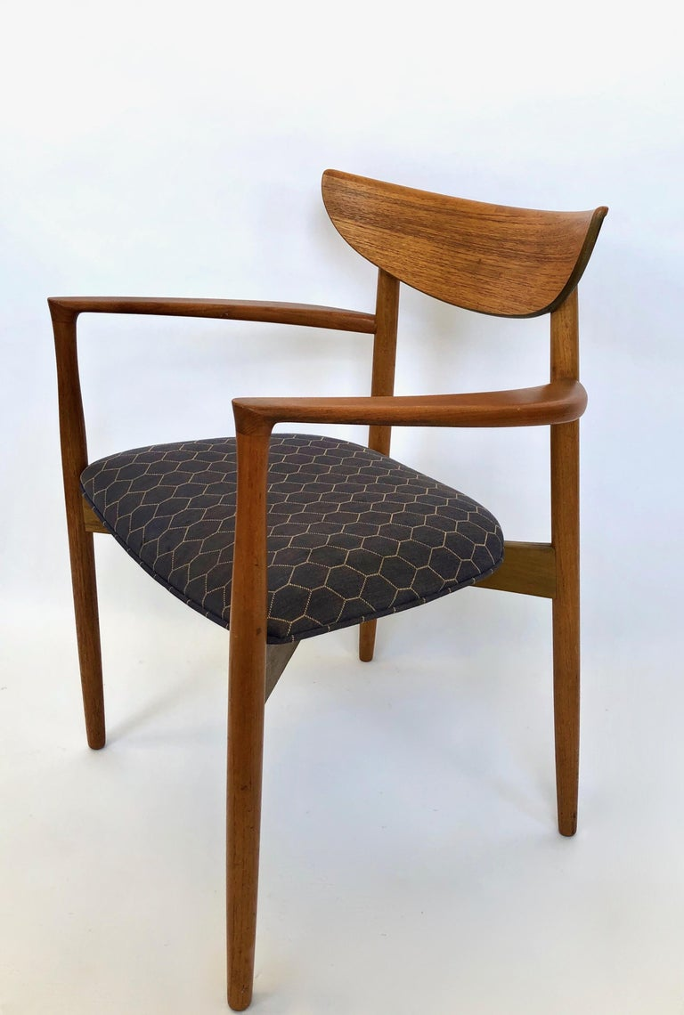 Six Dining Chairs by Harry Ostergaard for Randers Mobelfabrik, Denmark, 1960s For Sale 2