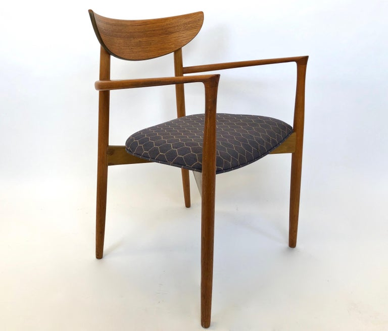 Six Dining Chairs by Harry Ostergaard for Randers Mobelfabrik, Denmark, 1960s For Sale 3