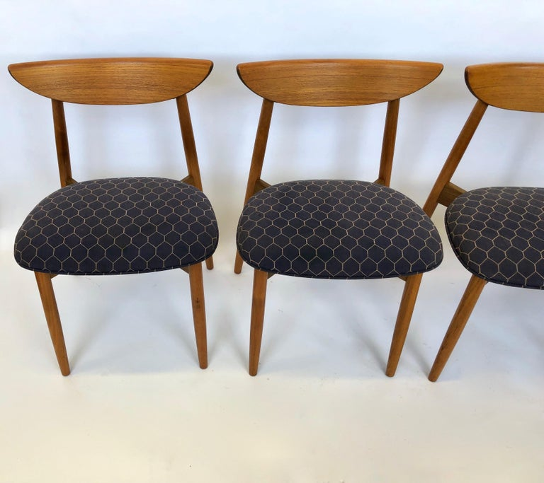 Six Dining Chairs by Harry Ostergaard for Randers Mobelfabrik, Denmark, 1960s For Sale 4