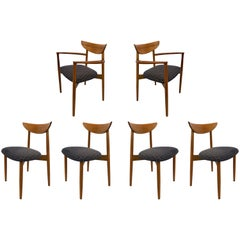 Six Dining Chairs by Harry Ostergaard for Randers Mobelfabrik, Denmark 1960s
