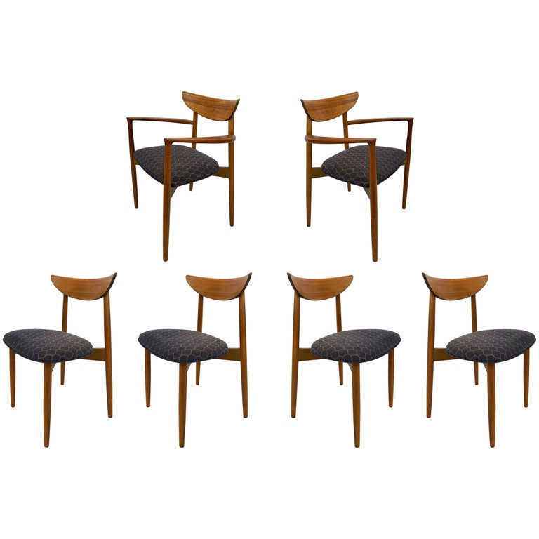 Six Dining Chairs by Harry Ostergaard for Randers Mobelfabrik, Denmark, 1960s For Sale