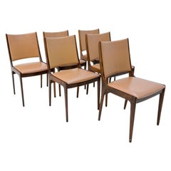 Six Dining Chairs by Johannes Andersen, Danish Design, 1960s