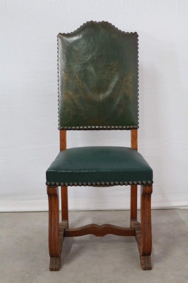 Louis XIV Six Dining Chairs High Back Upholstered to Recover French, circa 1920 For Sale