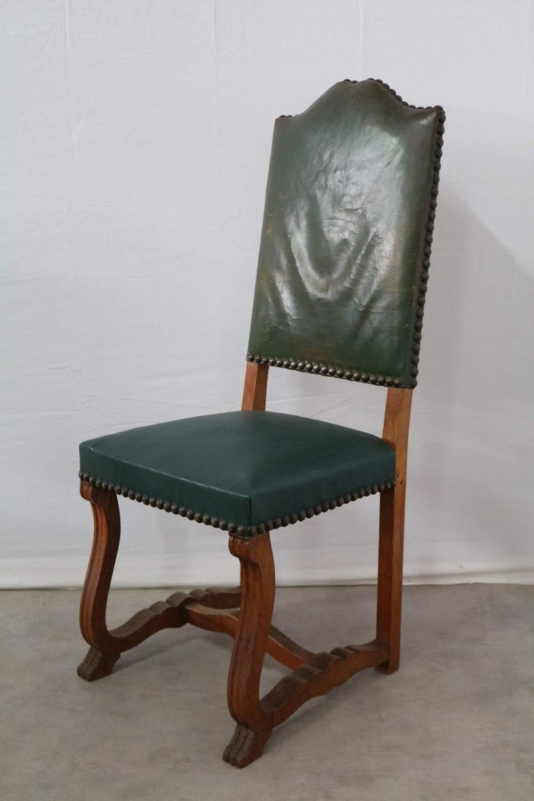 Six Dining Chairs High Back Upholstered to Recover French, circa 1920 In Good Condition For Sale In , South West France