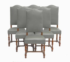 Six Dining Chairs Includes Recovering French, Early 20th Century