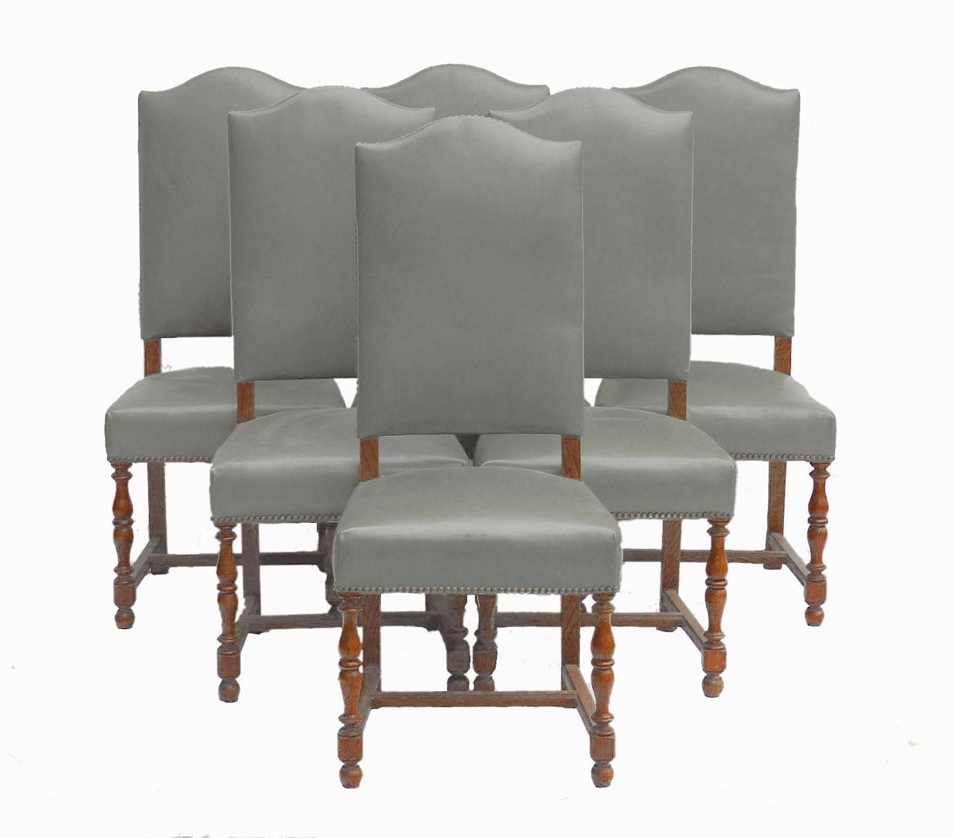 Six Dining Chairs Includes Recovering French, Early 20th Century For Sale