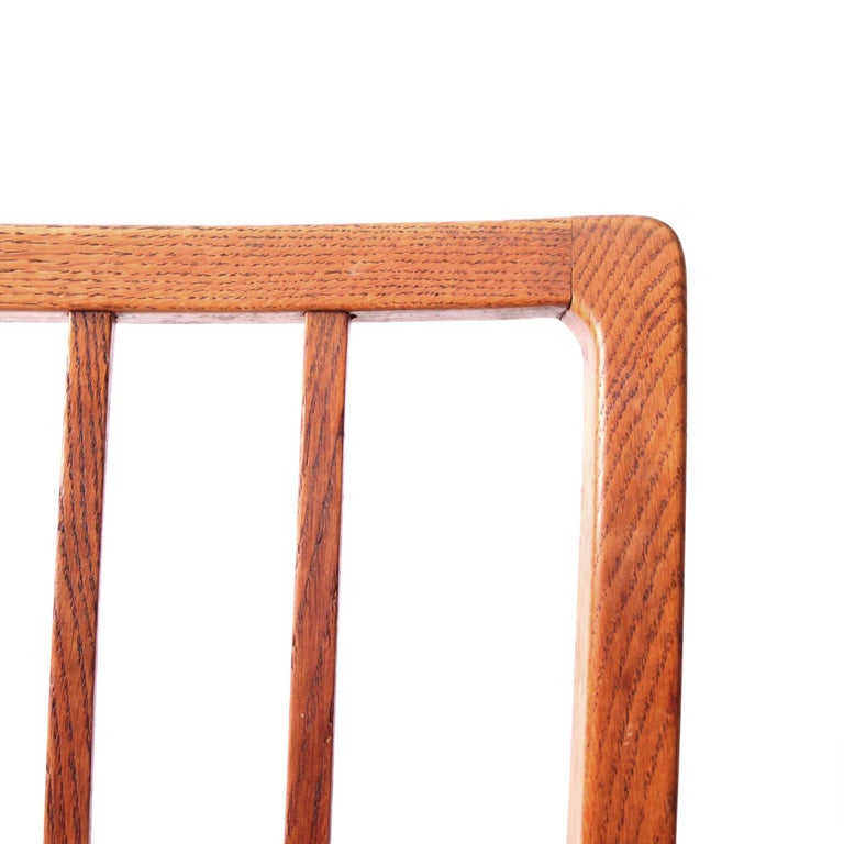 Six Dining Chairs Oak and Nigerian Leather, Denmark, 1930s For Sale 3