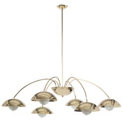 Six Dome Chandelier in Polished Brass Designed by Commune for Remains Lighting