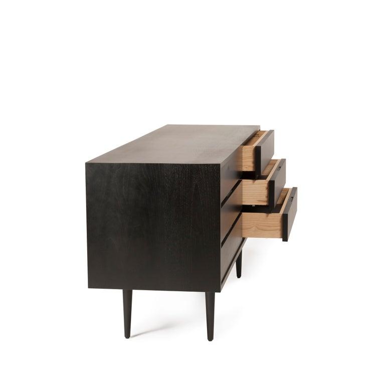 Ebonized Six Drawer Dresser by Mel Smilow For Sale