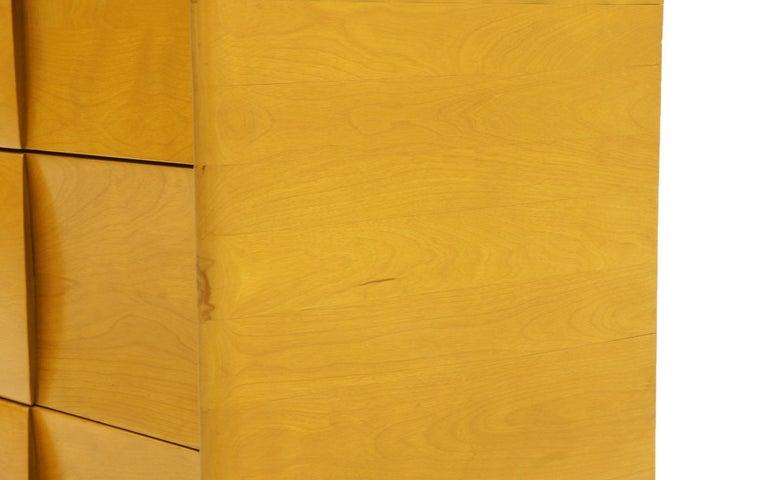 Six-Drawer Sculptura Dresser by Heywood Wakefield, Original Blonde Finish 7