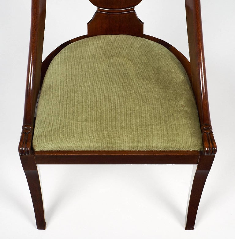 Early 20th Century Six Empire Style Gondola Chairs For Sale