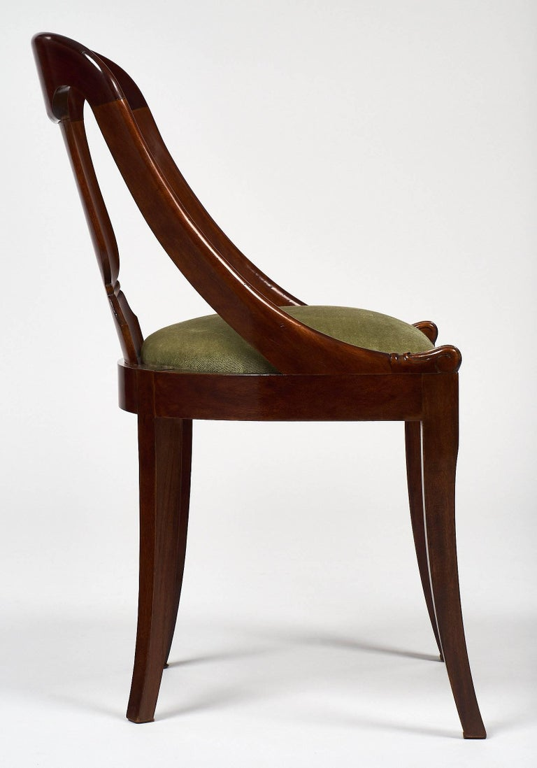 Six Empire Style Gondola Chairs For Sale 1