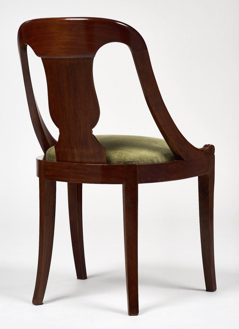 Six Empire Style Gondola Chairs For Sale 2