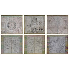 Six Engravings Celestial Charts, Cartographer, Astronomer Doppelmayr