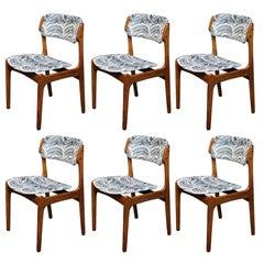 Six Erik Buch Danish Teak Dining Chairs for Oddense Maskinsnedkeri