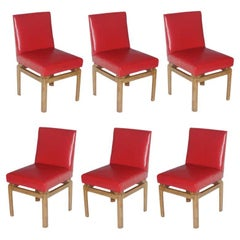 Six Far East Dining Chairs by Michael Taylor for Baker