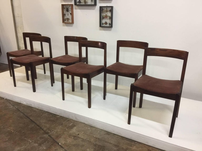Six Fine Danish Rosewood Dining Chairs For Sale at 1stdibs