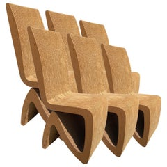 Six Frank Gehry Corrugated Cardboard Chairs