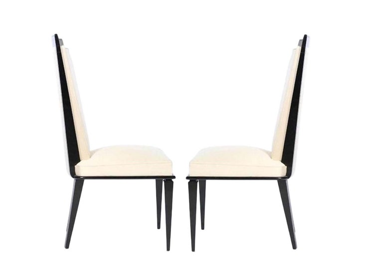 Mid-20th Century Six French Art Deco Lacquered Dining Chairs For Sale