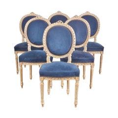 Six French Dining Chairs