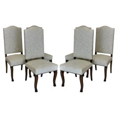 Six French High Back Dining Chairs