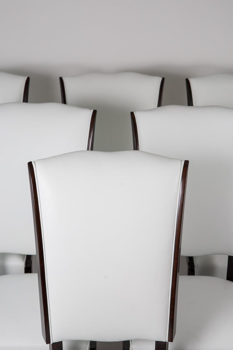 Six French Rosewood Art Deco Dining Chairs 6