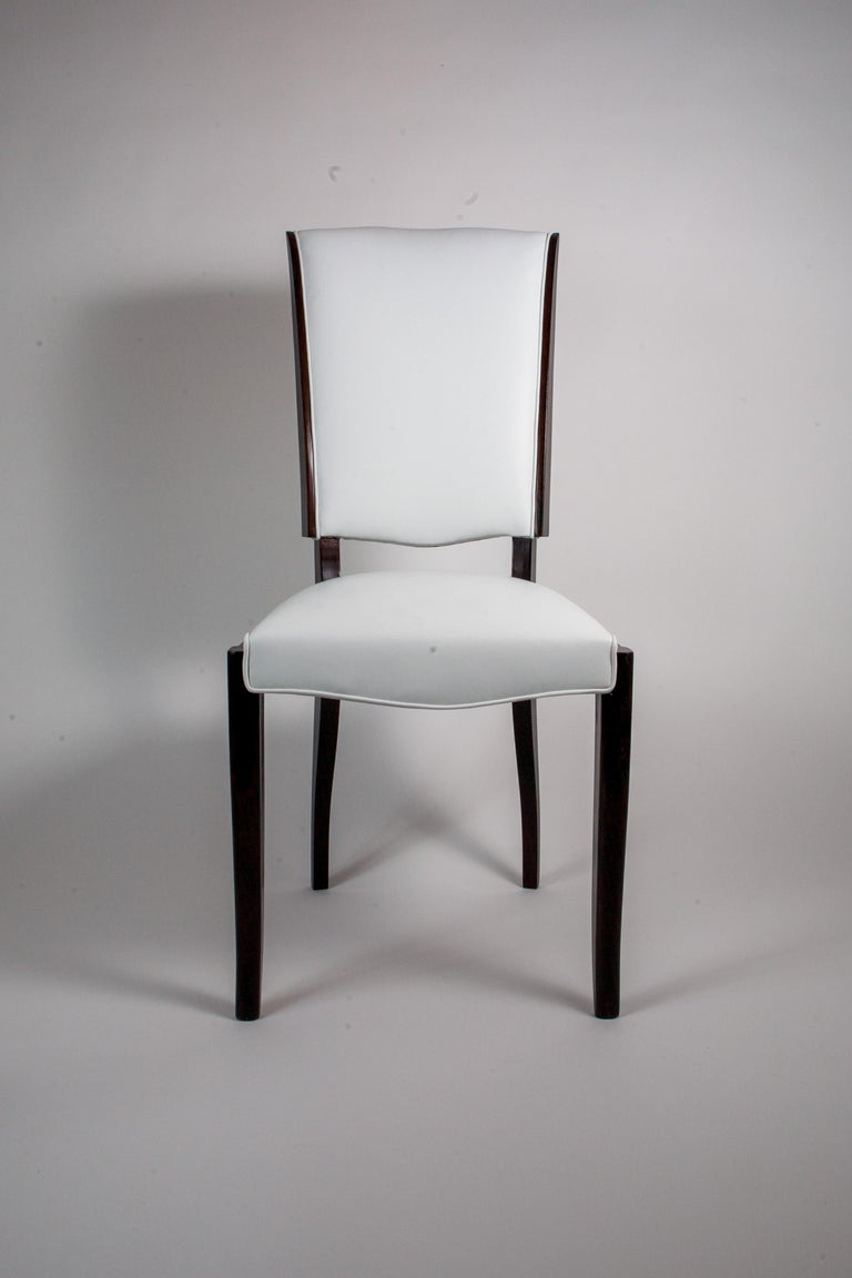 Six French Rosewood Art Deco Dining Chairs In Good Condition In New York, NY