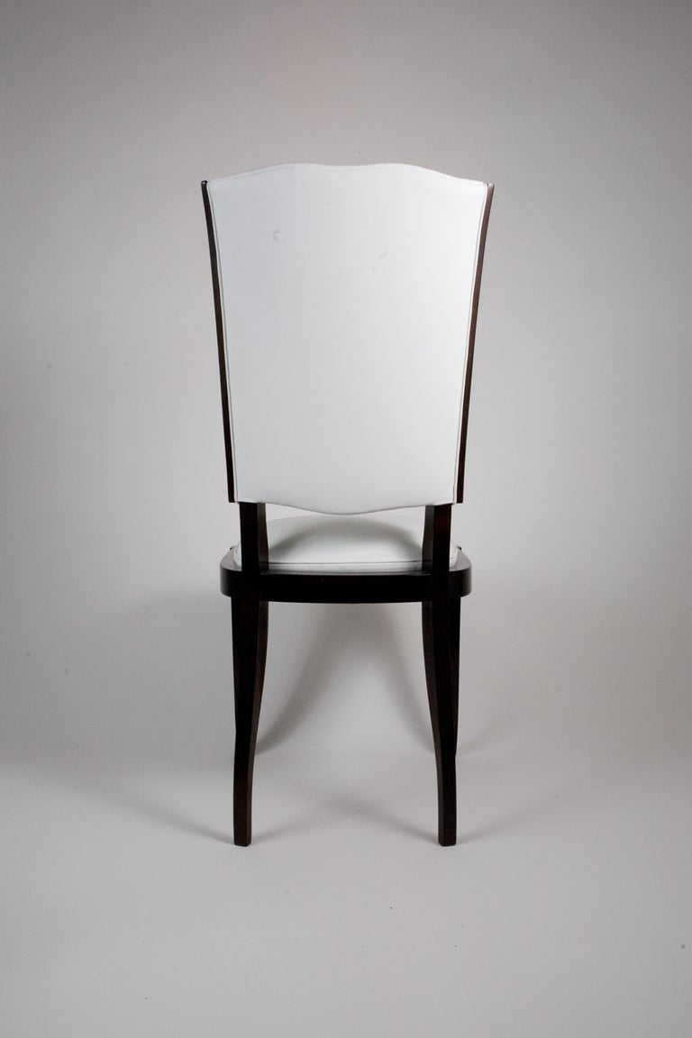Six French Rosewood Art Deco Dining Chairs 2