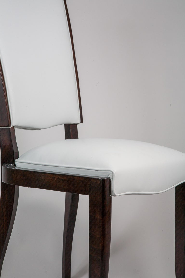 Six French Rosewood Art Deco Dining Chairs 3