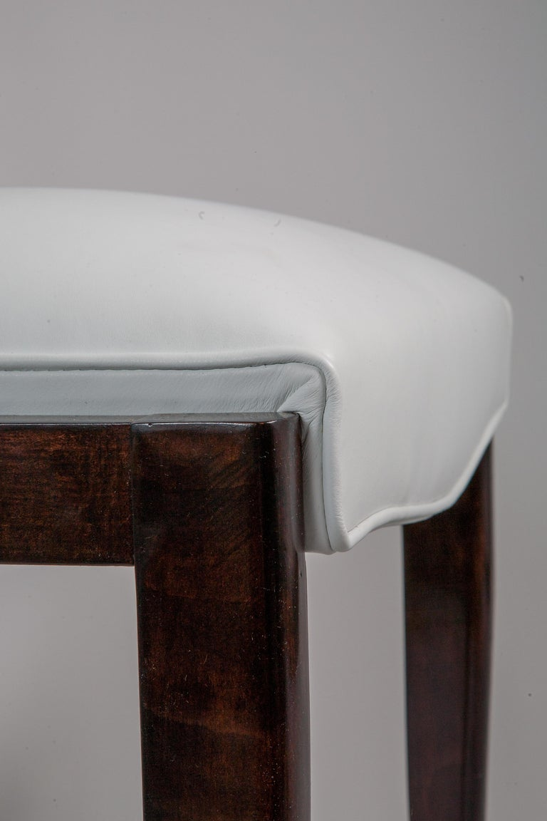 Six French Rosewood Art Deco Dining Chairs 4