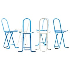 Six Gastone Rinaldi Dafne Folding Chairs