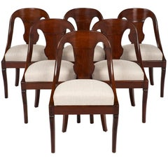 Six Gondola Dining Chairs