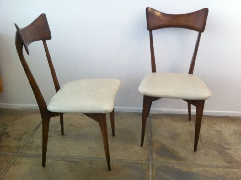 Six Ico Parisi Dining Chairs For Sale 3
