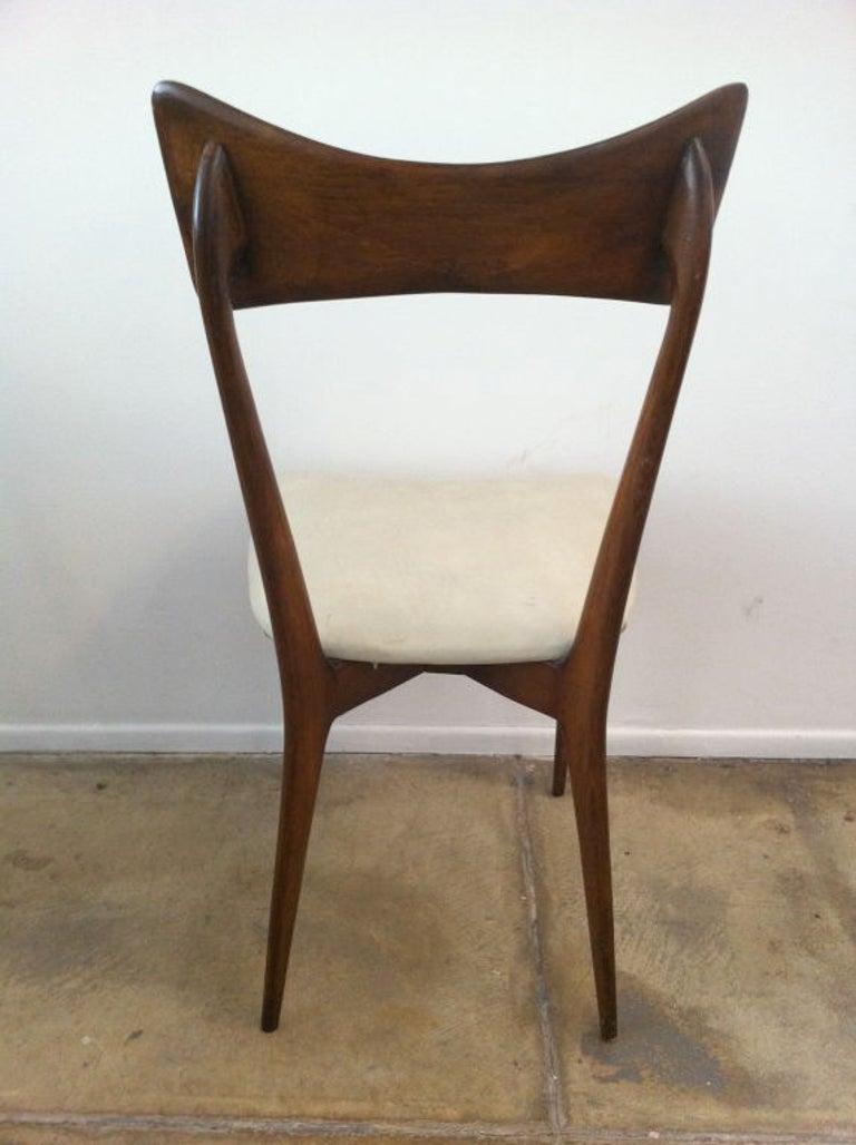 Six original Ico Parisi dining chairs.