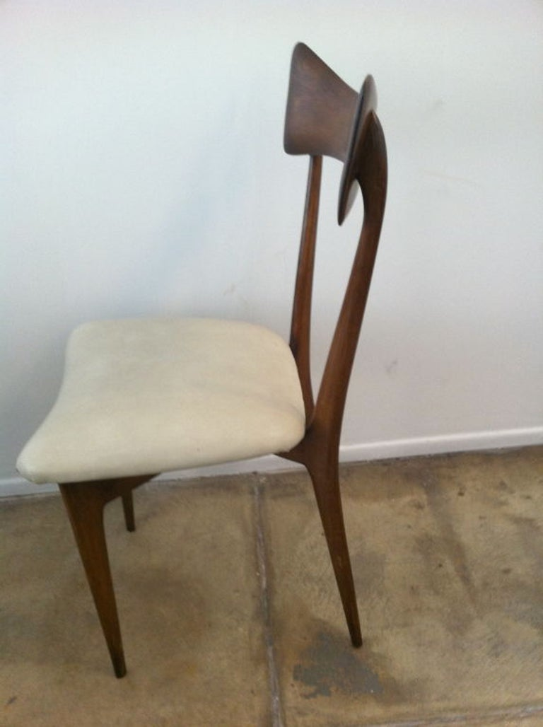 Mid-Century Modern Six Ico Parisi Dining Chairs For Sale