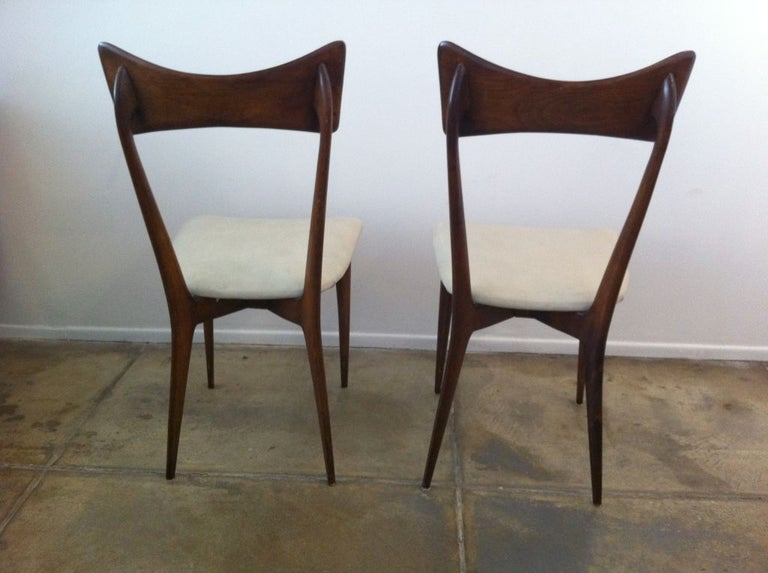Six Ico Parisi Dining Chairs In Good Condition For Sale In New York, NY