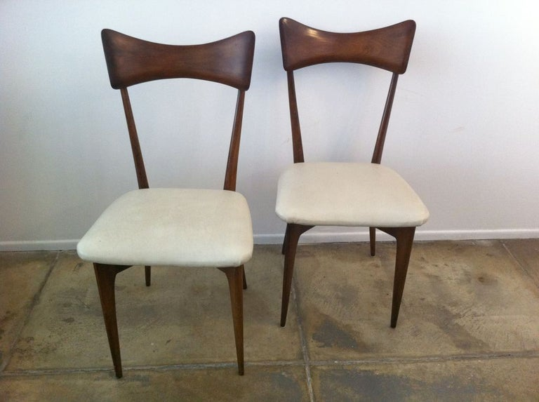 Mid-20th Century Six Ico Parisi Dining Chairs For Sale