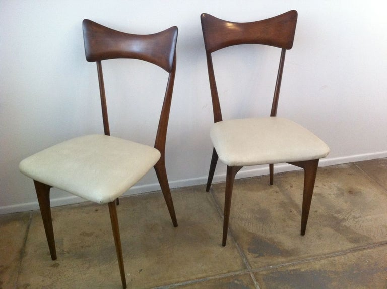 Six Ico Parisi Dining Chairs For Sale 2