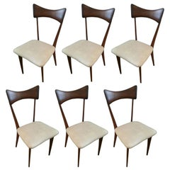 Six Ico Parisi Dining Chairs