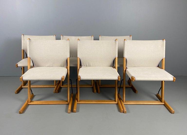 Rare six Italian chairs