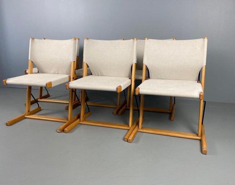 Mid-Century Modern Six Italian Chairs