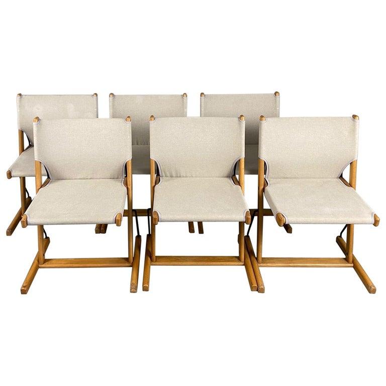 "Six Italian Chairs ""Nina & Santamaria"" Designer Piero De Martini for Cassina For Sale"
