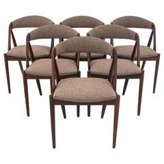Six Kai Kristiansen Model 31 Teak Dining Room Chairs