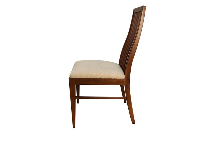 Six Lane First Edition Midcentury Walnut Spindle Back Dining Chairs For Sale 1