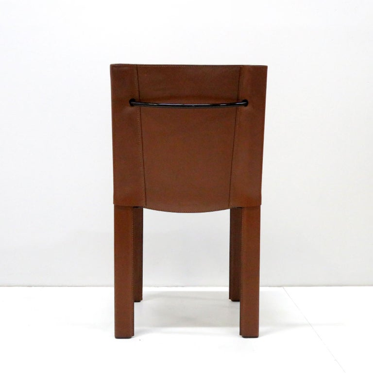 Late 20th Century Six Leather Dining Chairs
