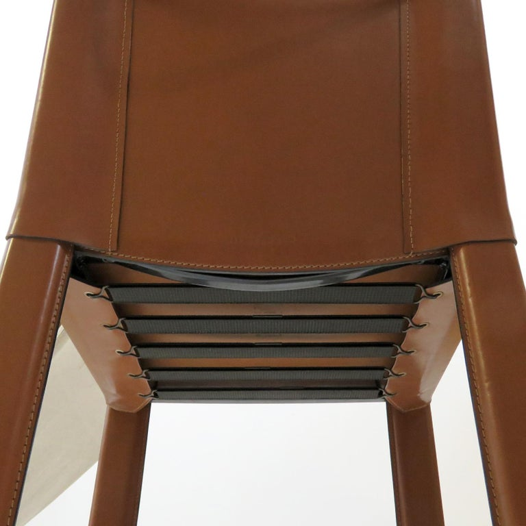 Six Leather Dining Chairs